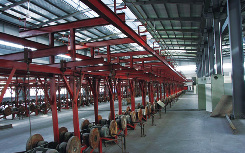 Pipe pile casting production line