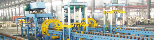 Novel resin coated sand casting line