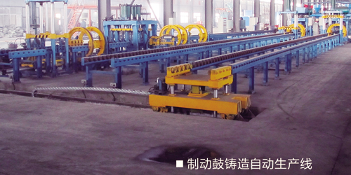 Automatic production line for brake drum
